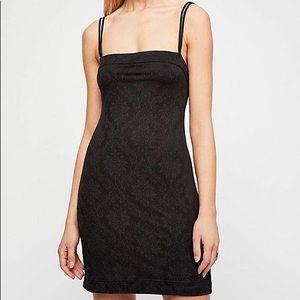 Black Free People All Nighter Jacquard Dress